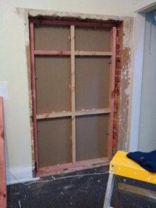 工事中の壁