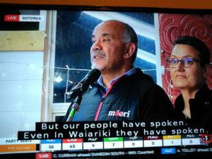 Maori Partyの共同代表 TE URUROA FLAVELL
