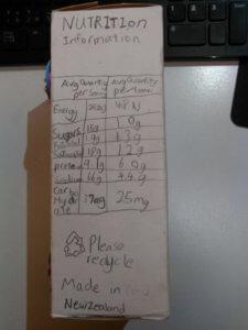 宿題のシリアルボックス作り4