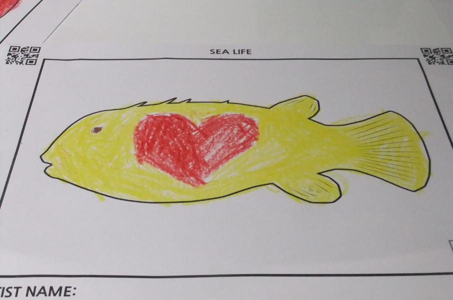 胴体にハートの印がある魚