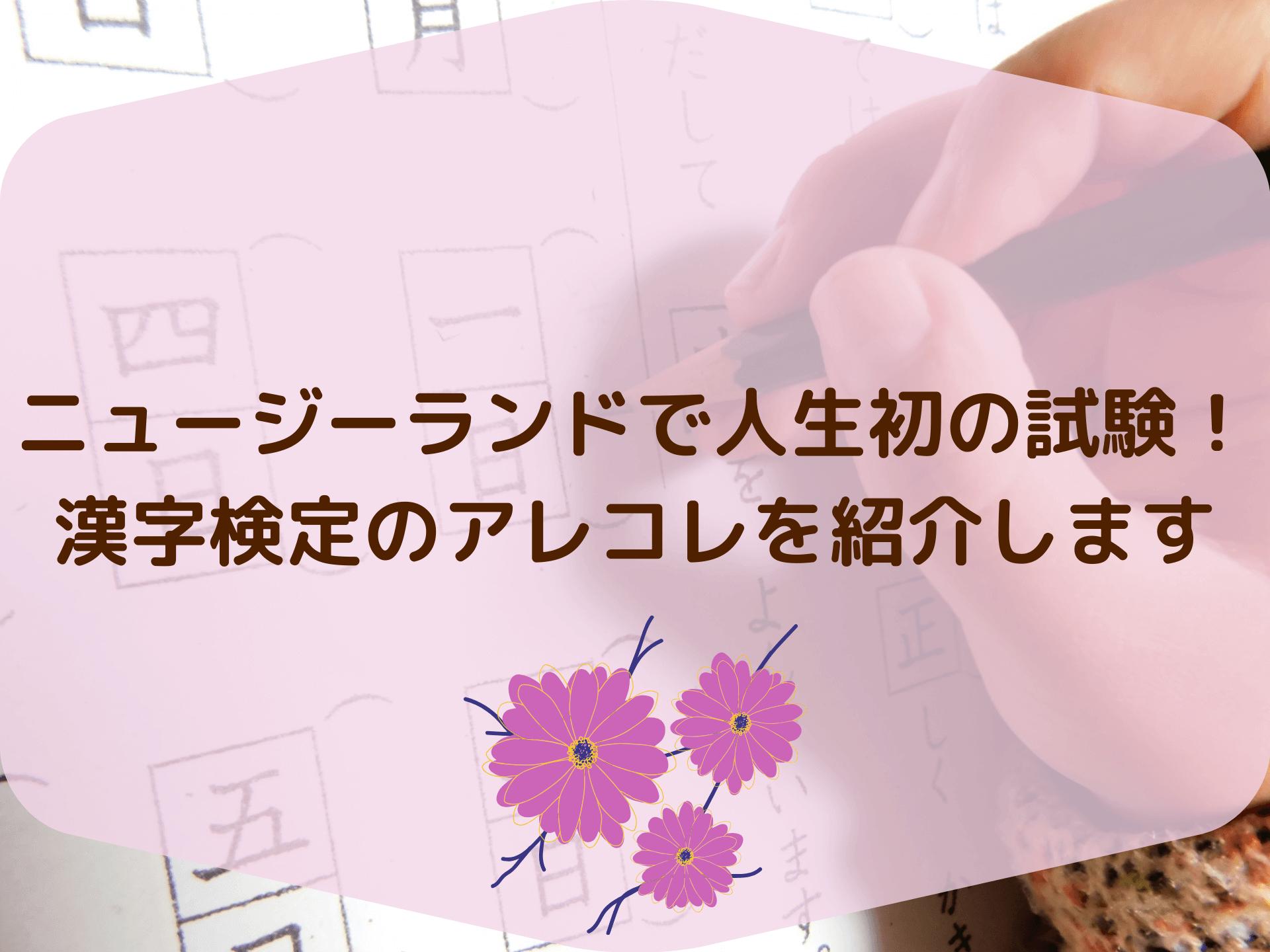 ニュージーランドで人生初の試験!漢字検定のアレコレを紹介します